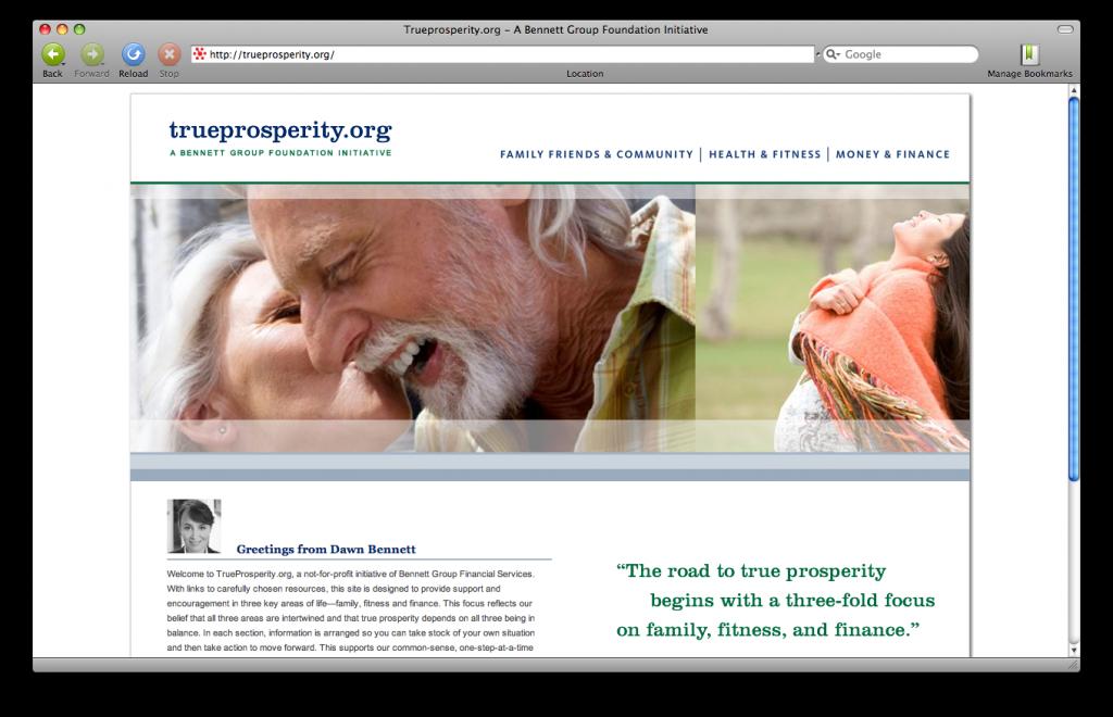 trueprosperity.org hompage